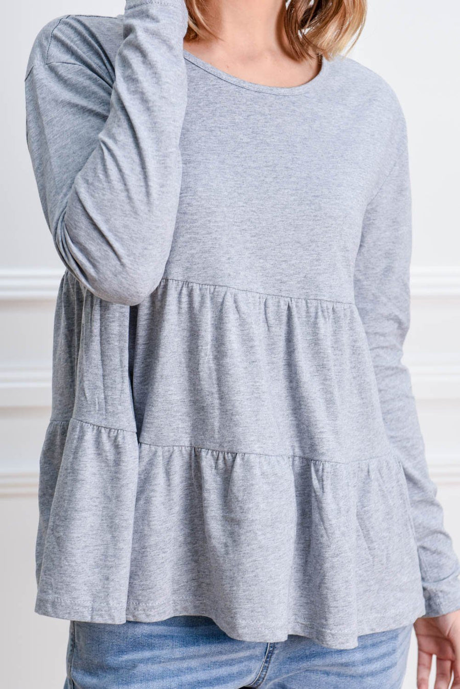 Bella Top | Grey Top Gray Label