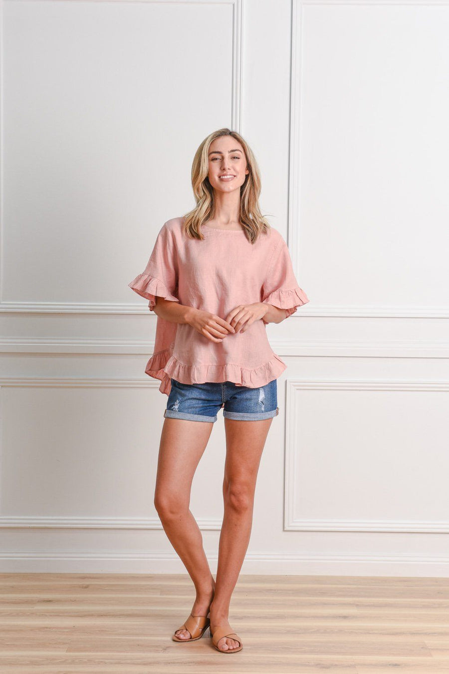 Belle Top | Blush Top Gray.Label
