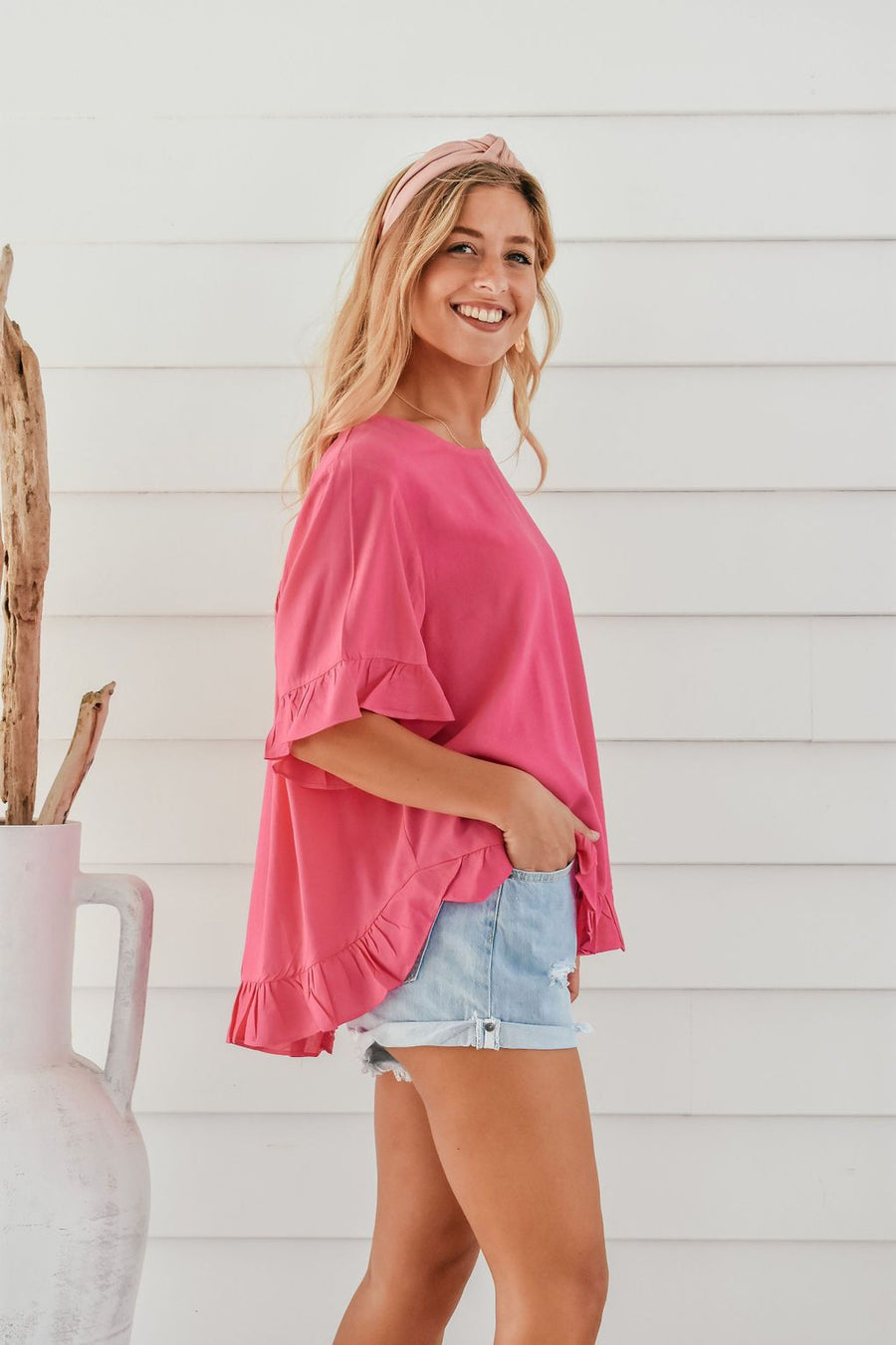 Belle Top | Fuschia - Gray Label Top Gray.Label