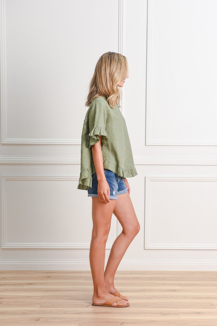 Belle Top | Khaki Top Gray.Label