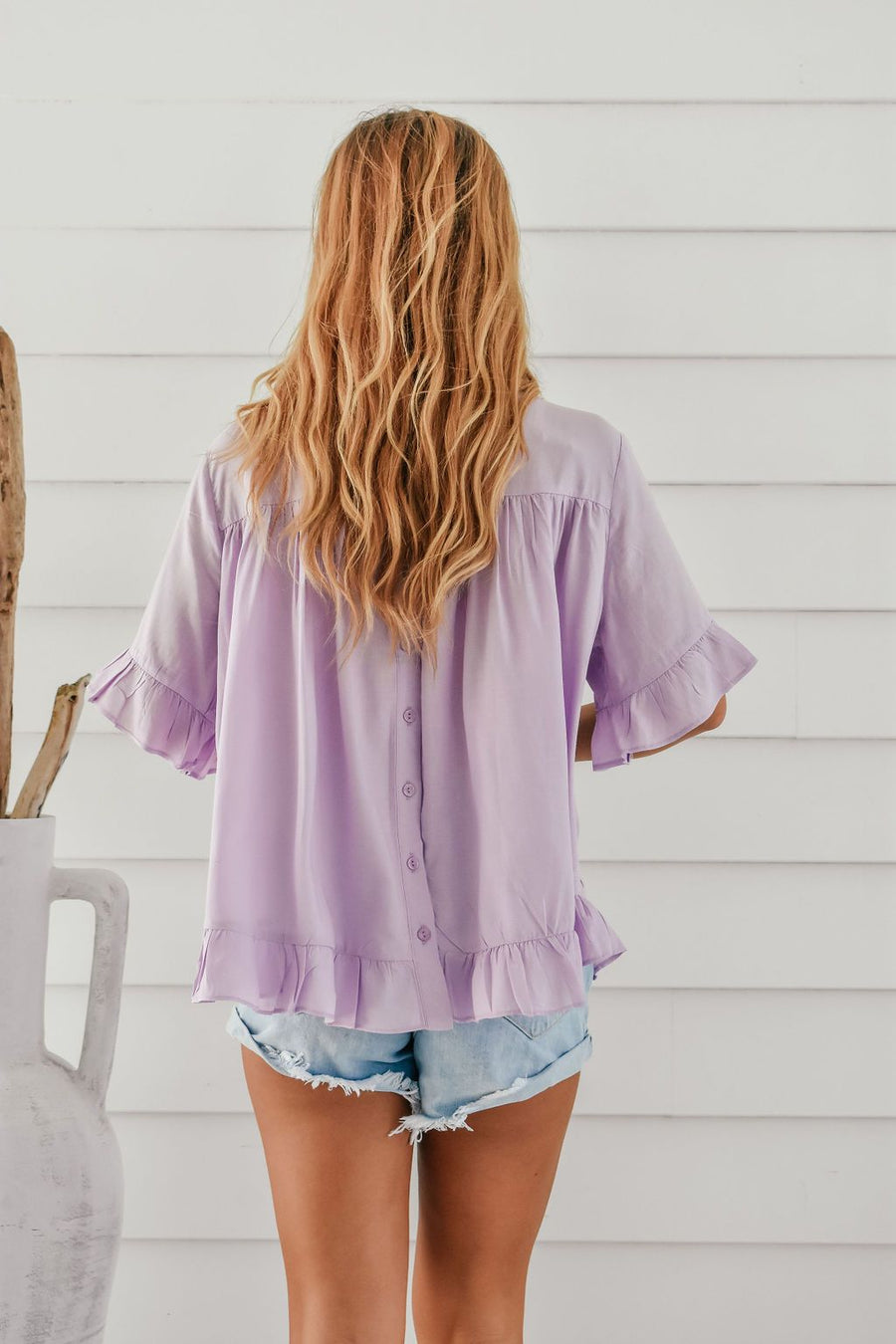 Belle Top | Lavender - Gray Label Top Gray.Label