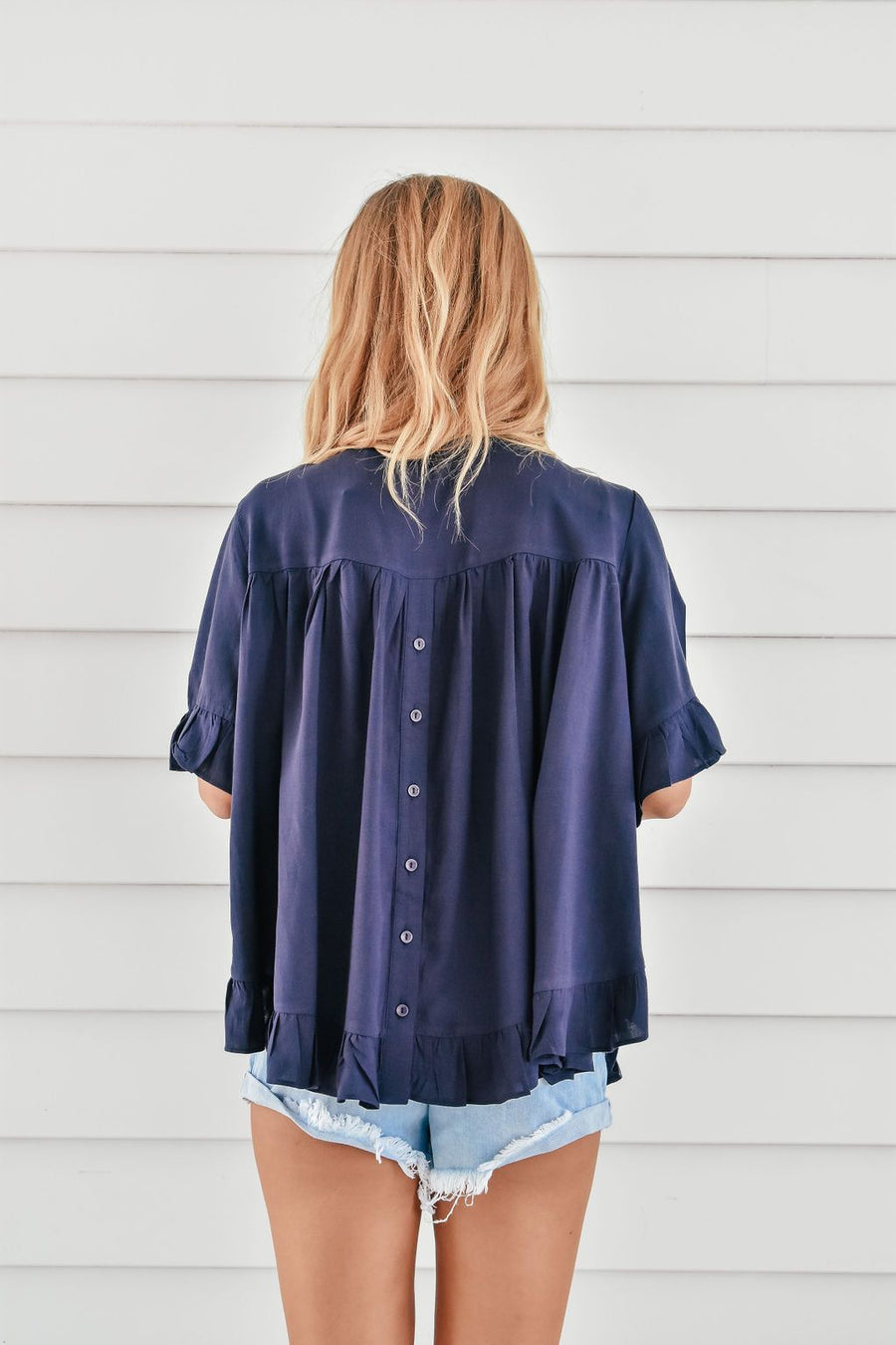 Belle Top | Navy - Gray Label Top Gray.Label