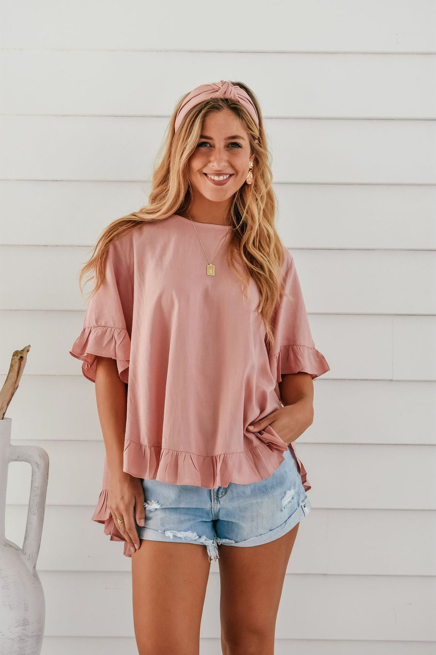 Belle Top | Pink - Gray Label Top Gray.Label