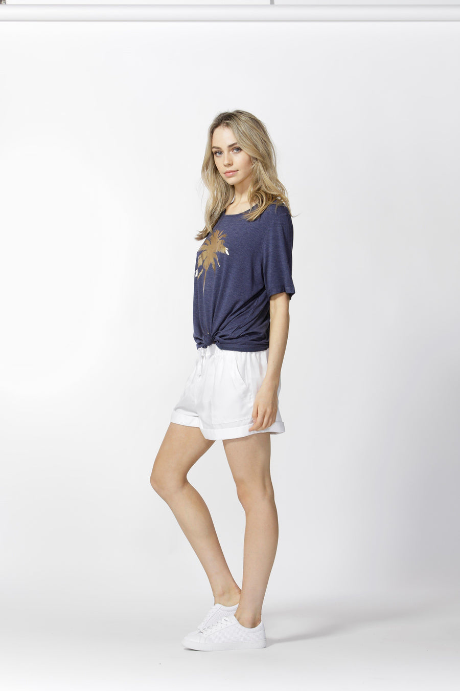 Betty Shorts - White Tee Gray.Label