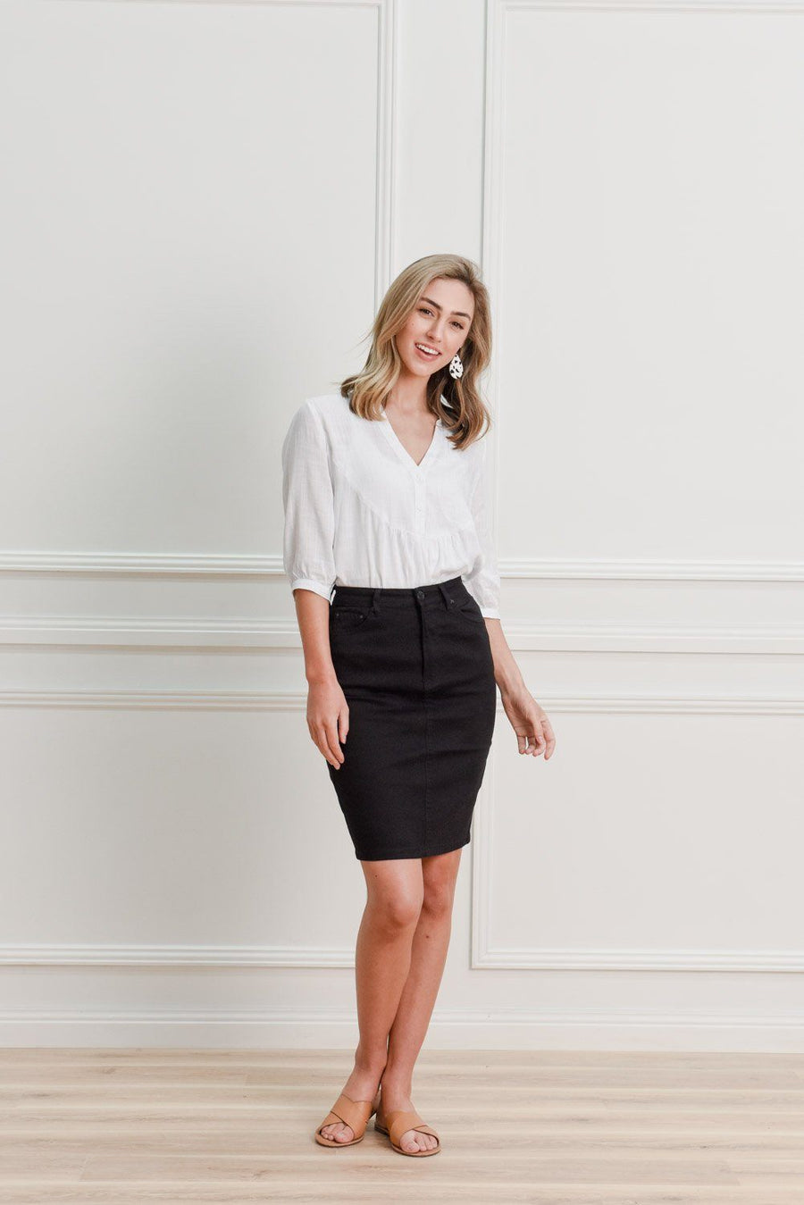 Blaire Skirt | Black Denimn Skirt Gray Label