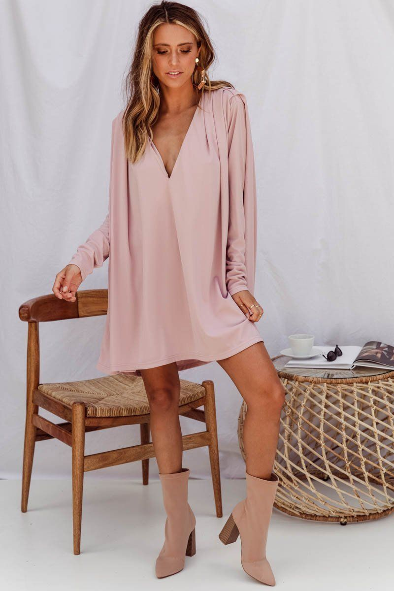 Cleopatra Cape Tunic | Dusty Pink Dress Gray Label