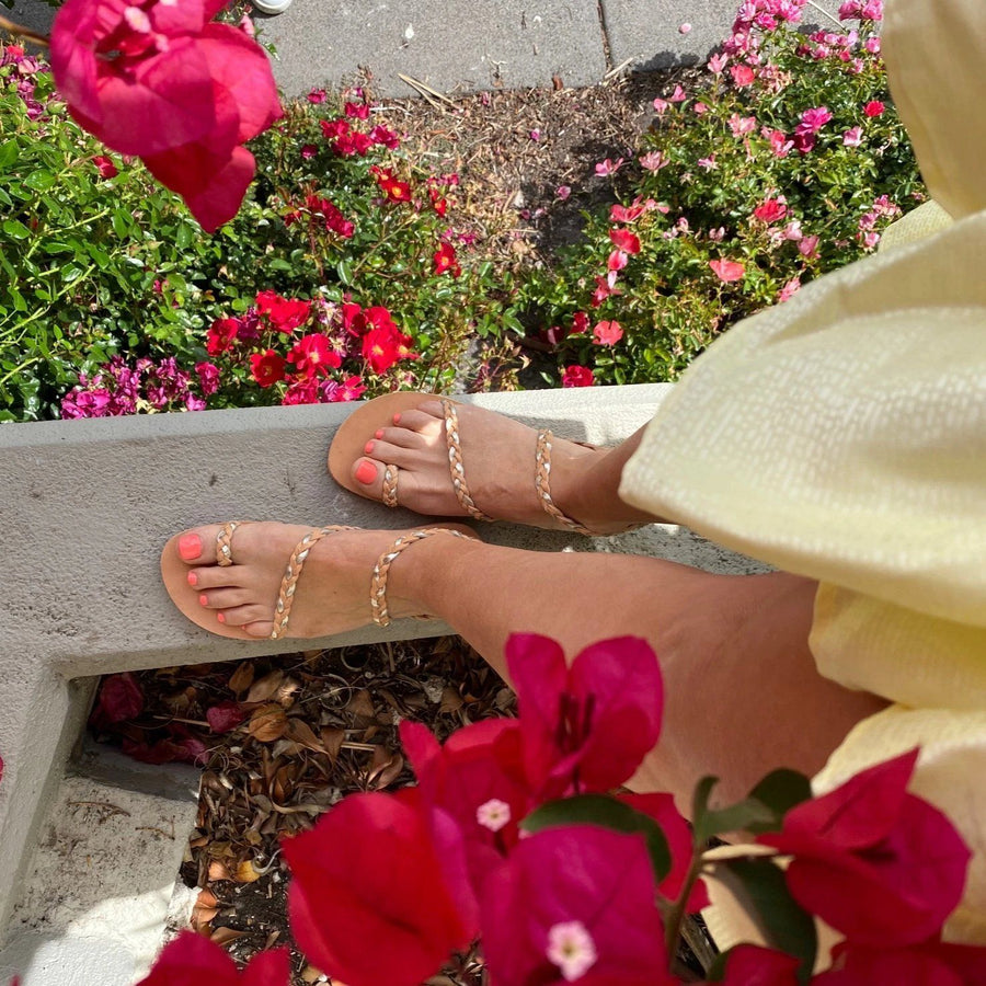 Clio Sandals | Tan/Gold Shoes Gray Label