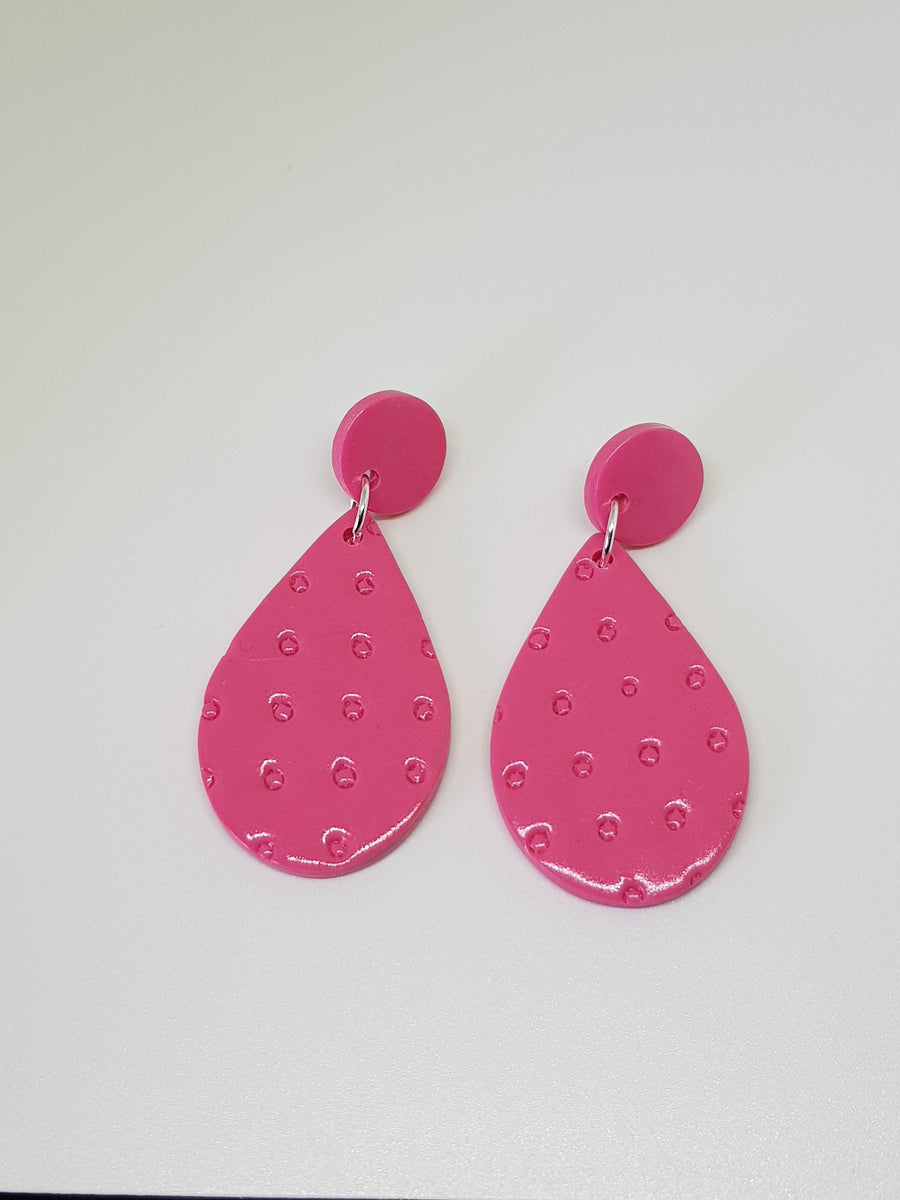 Dangles | Amori Teardrops Earrings Linart Designs Guava Pink