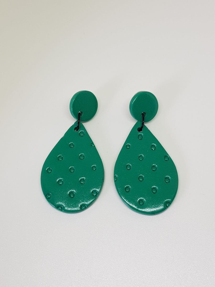 Dangles | Amori Teardrops Earrings Linart Designs Jade