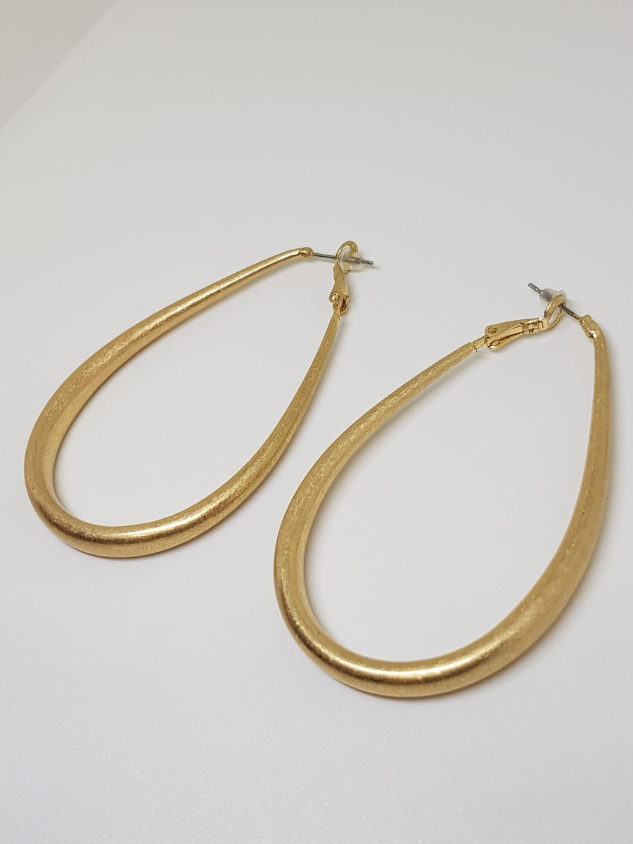 Dangles | Cooper Statement Dangles - Gold Earrings Linart Designs