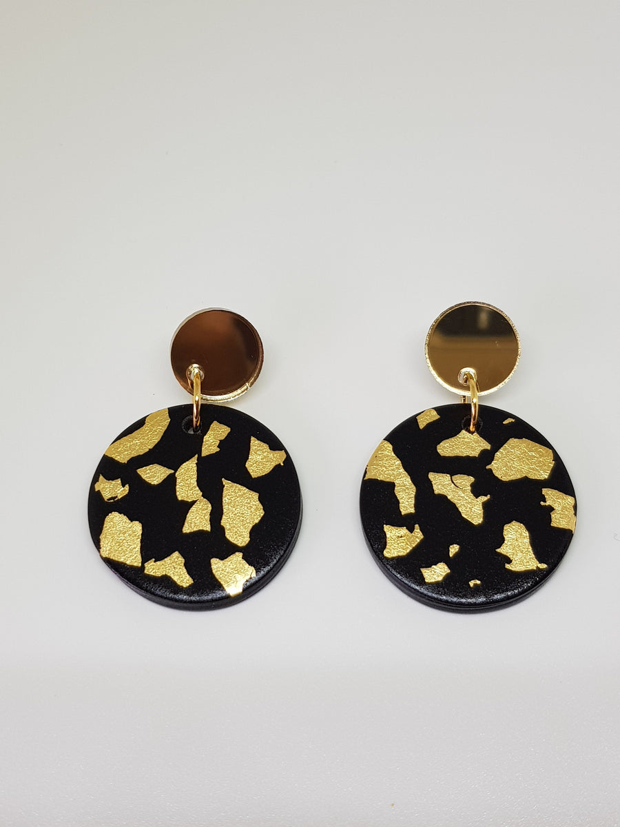 Dangles | Jessie Black with Gold Earrings Linart Designs