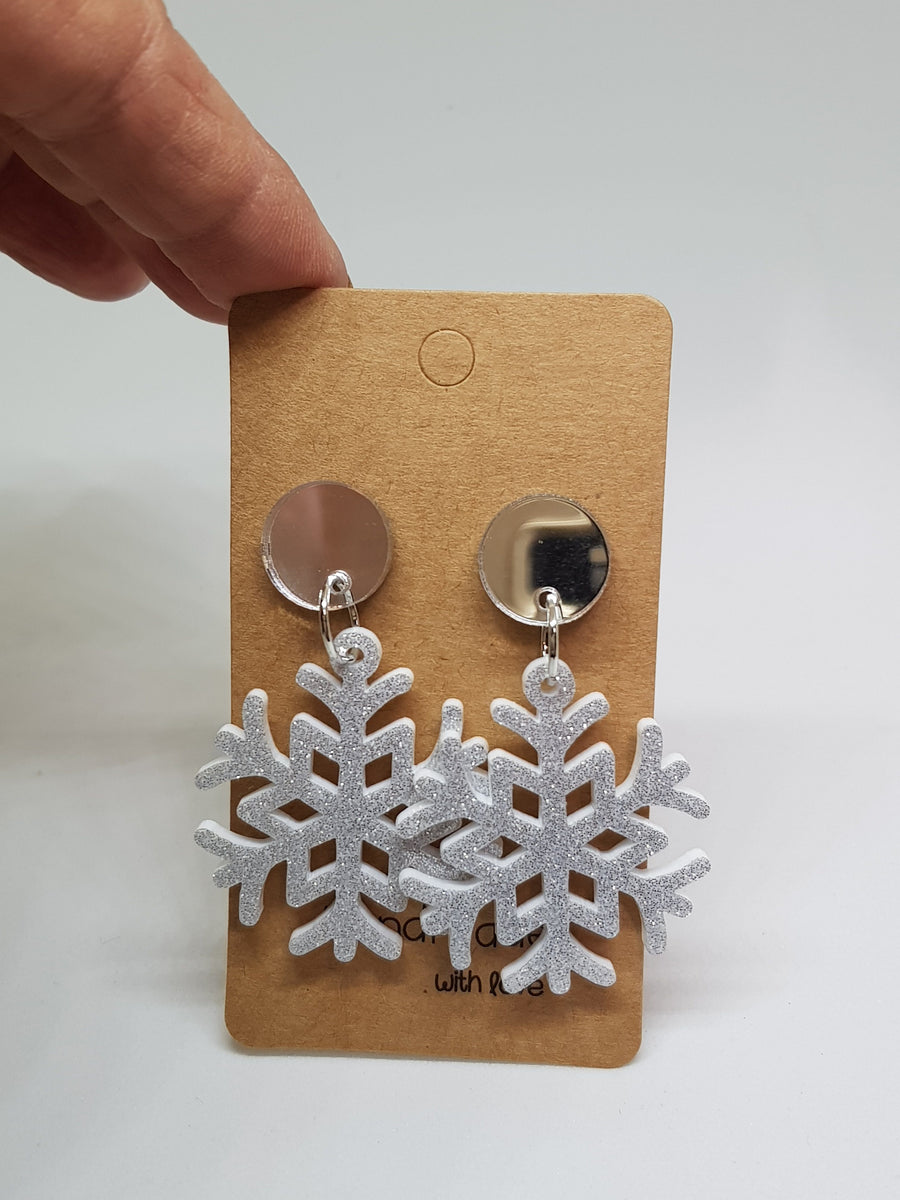 Dangles | Snow Flakes Earrings Gray.Label
