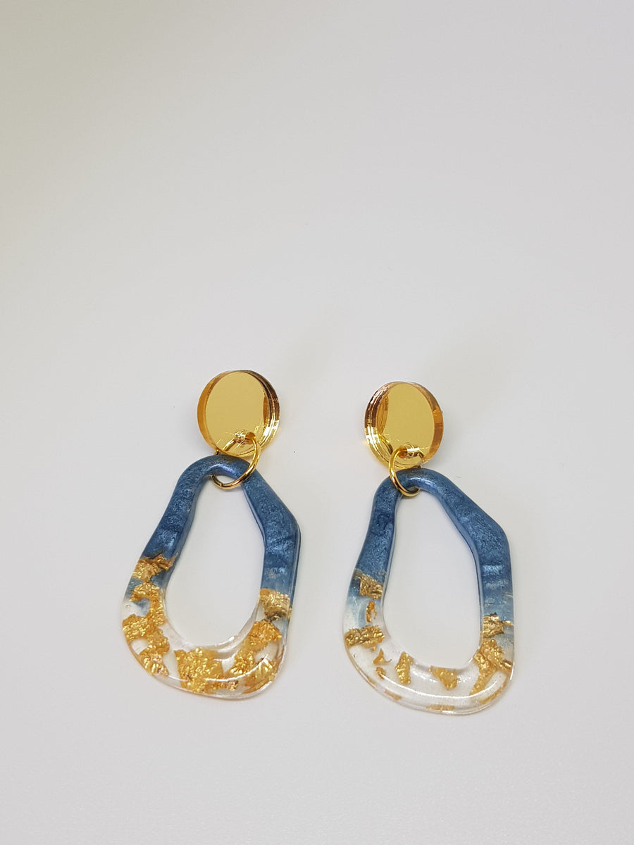 Dangles | Tess Blue Earrings Linart Designs