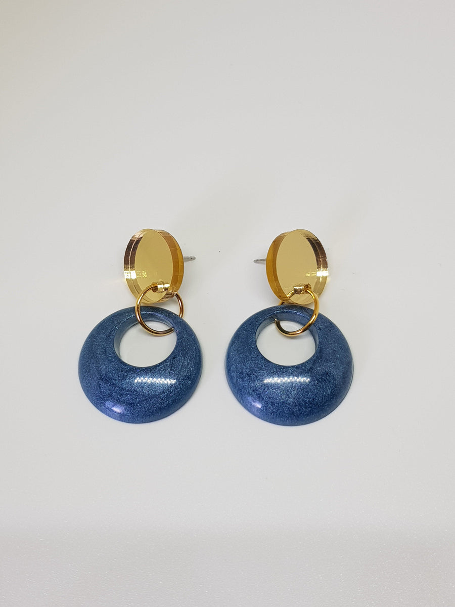 Dangles | Tess Blue Small Earrings Linart Designs