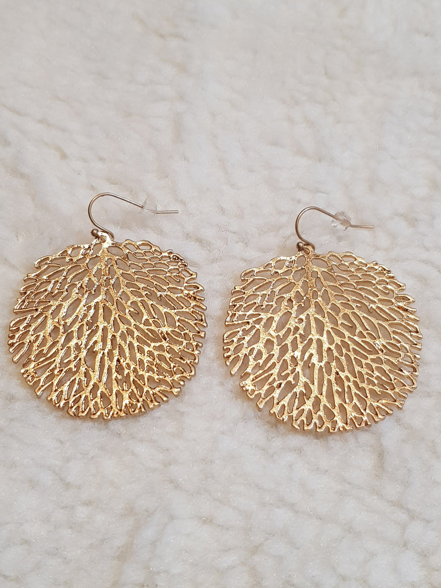 Dangles | Tree Of Life - Gold Earrings Linart Designs