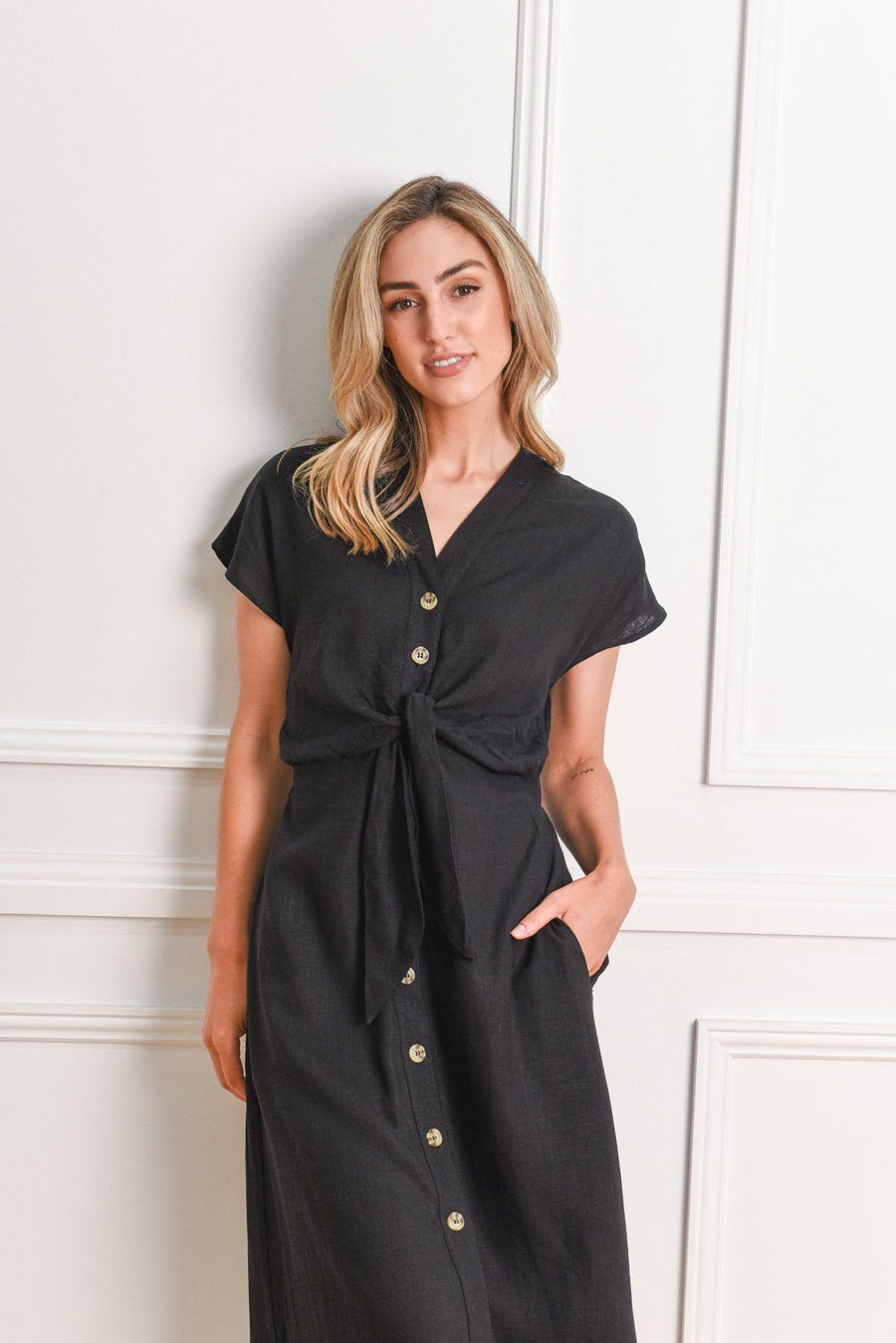 Duchess Dress | Black Dress Gray Label