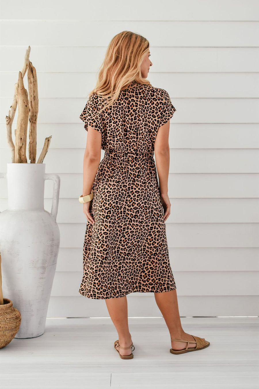 Duchess Dress | Brown Leopard Dress Gray Label