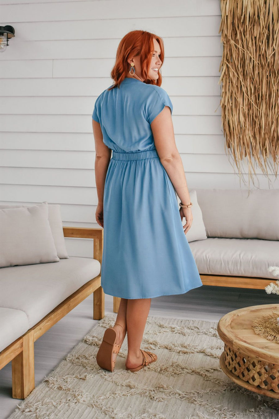 Duchess Dress | Chambray Blue Dress Gray Label