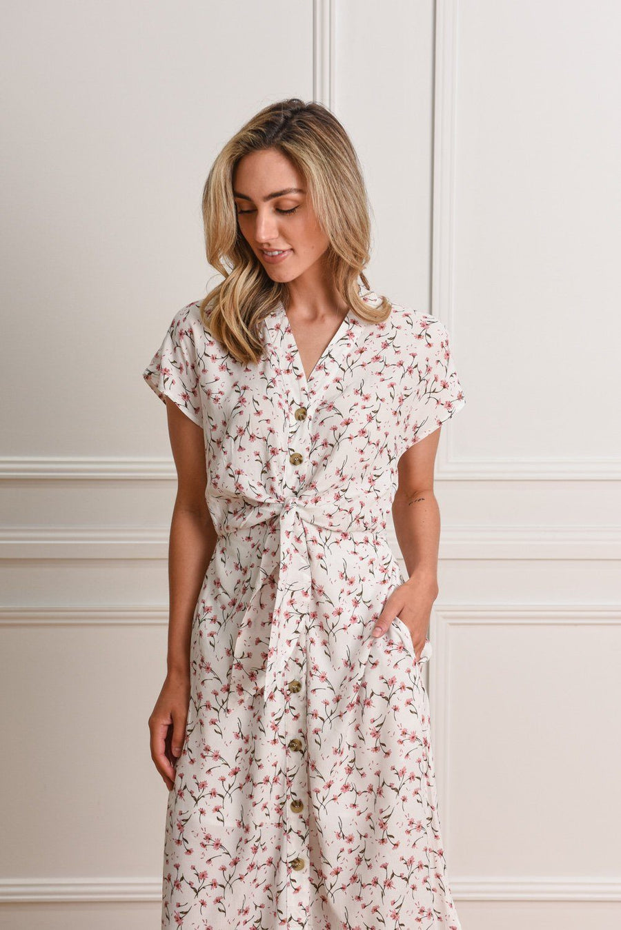 Duchess Dress | Floral Dress Gray Label
