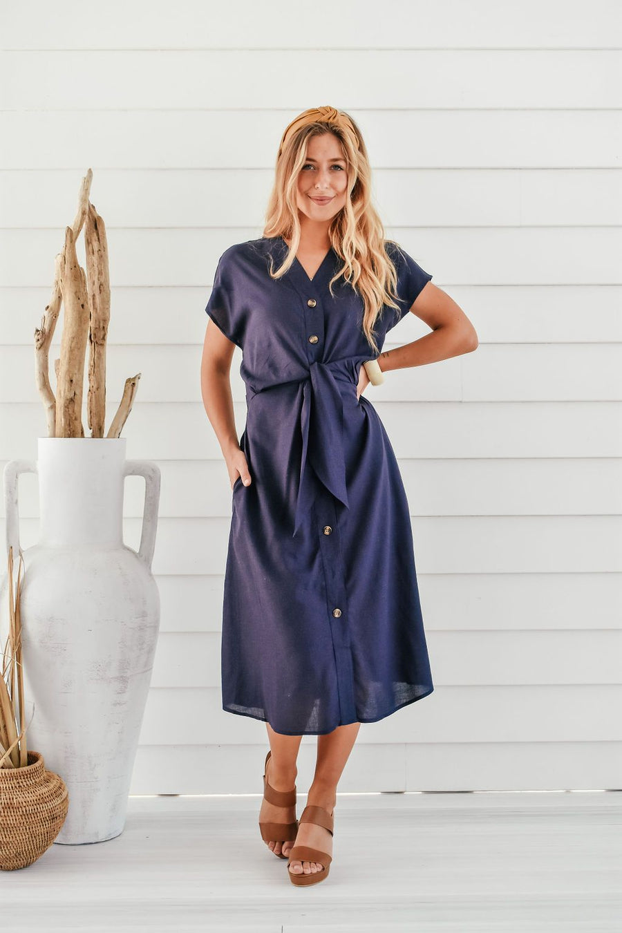 Duchess Dress | Navy Dress Gray Label