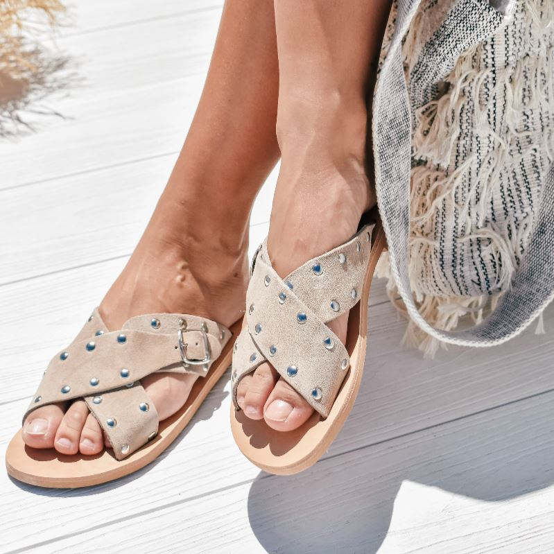 Elpida Sandals Shoes Gray Label