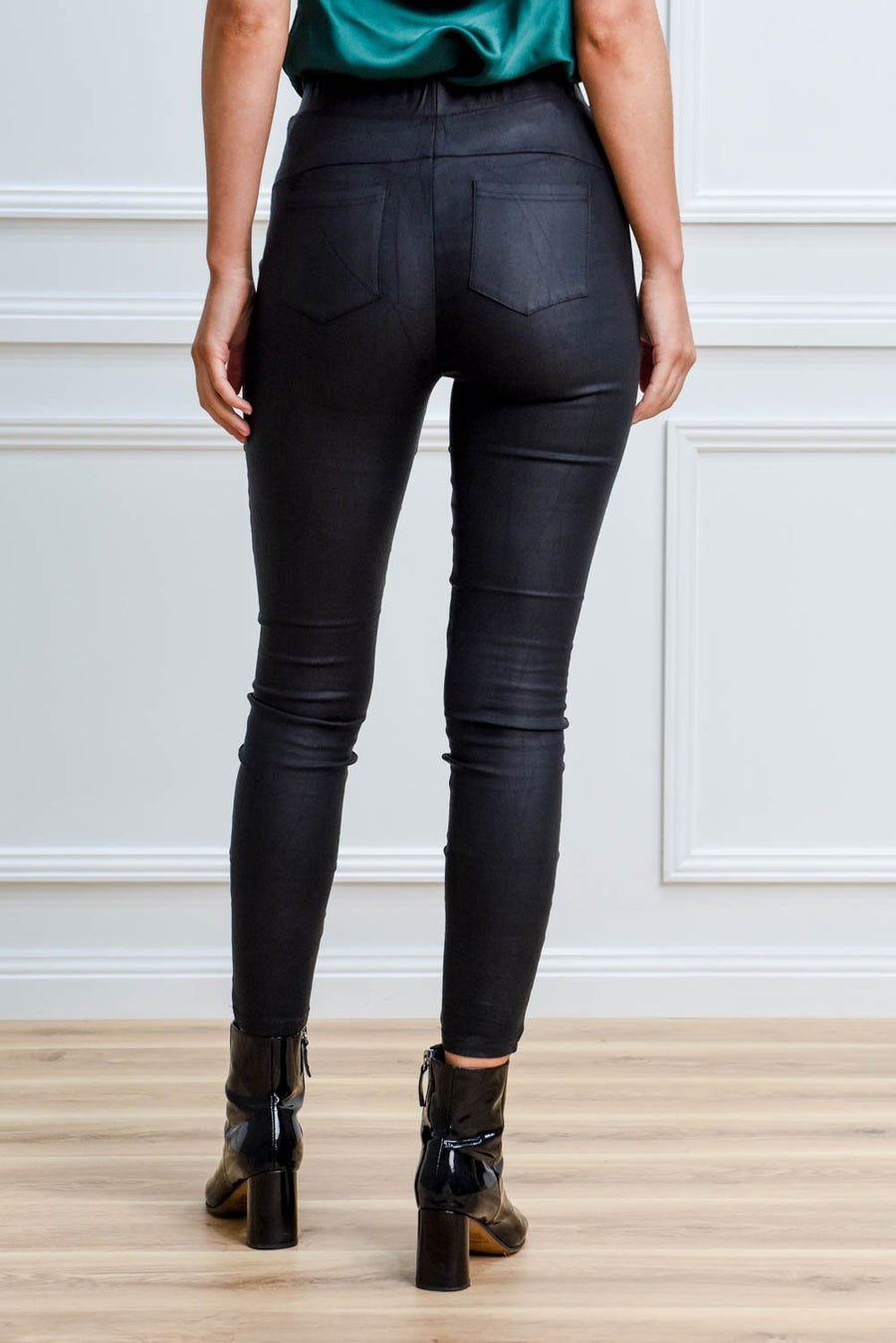 Estelle Leather Pant Pants Gray.Label