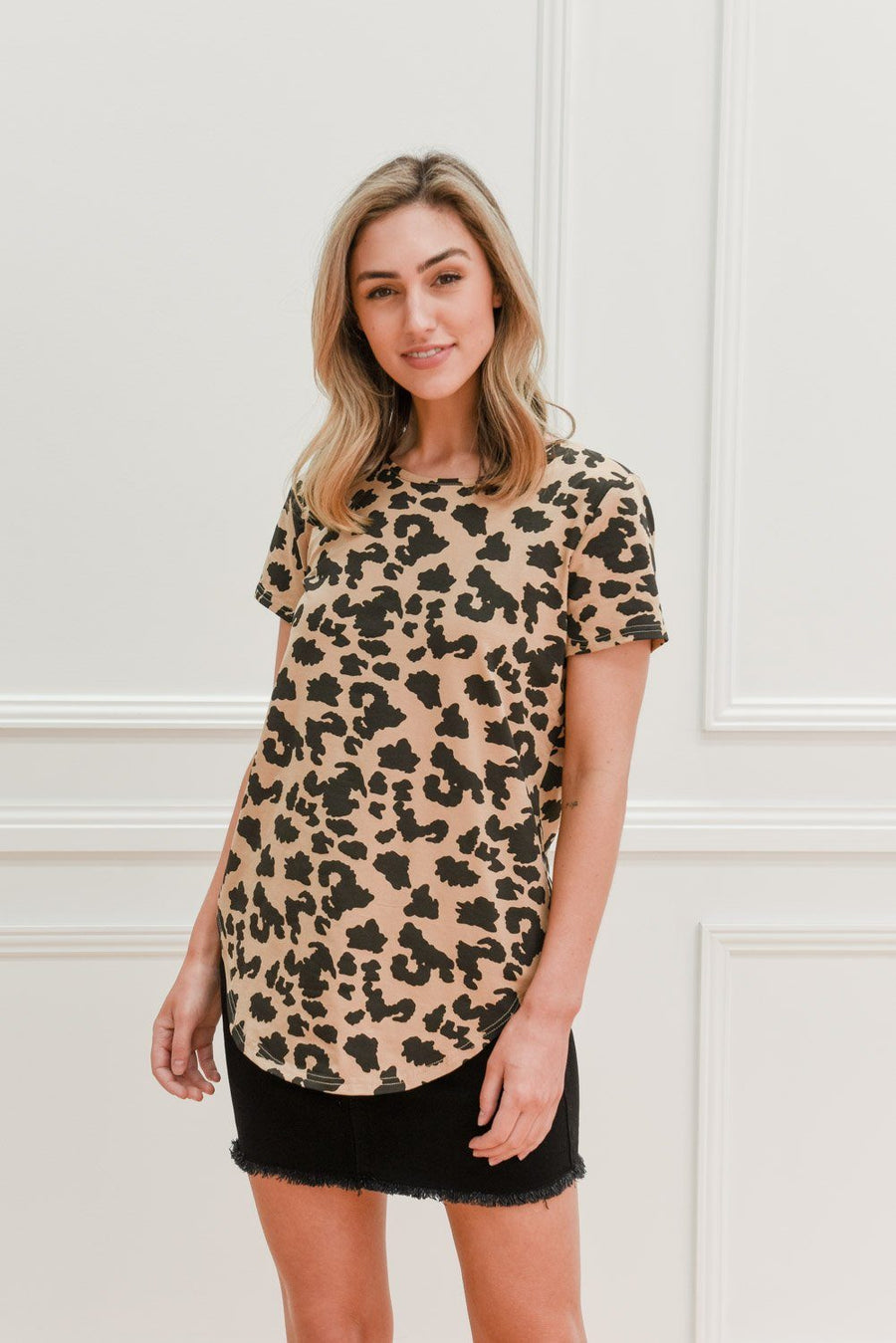 Georgia Tee | Leopard Tee Gray.Label