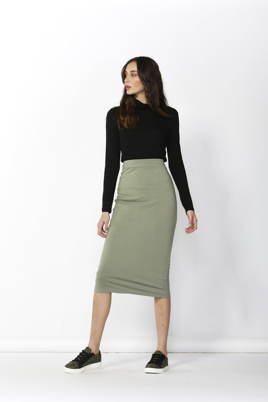 Gigi Skirt | Moss Skirt Gray Label