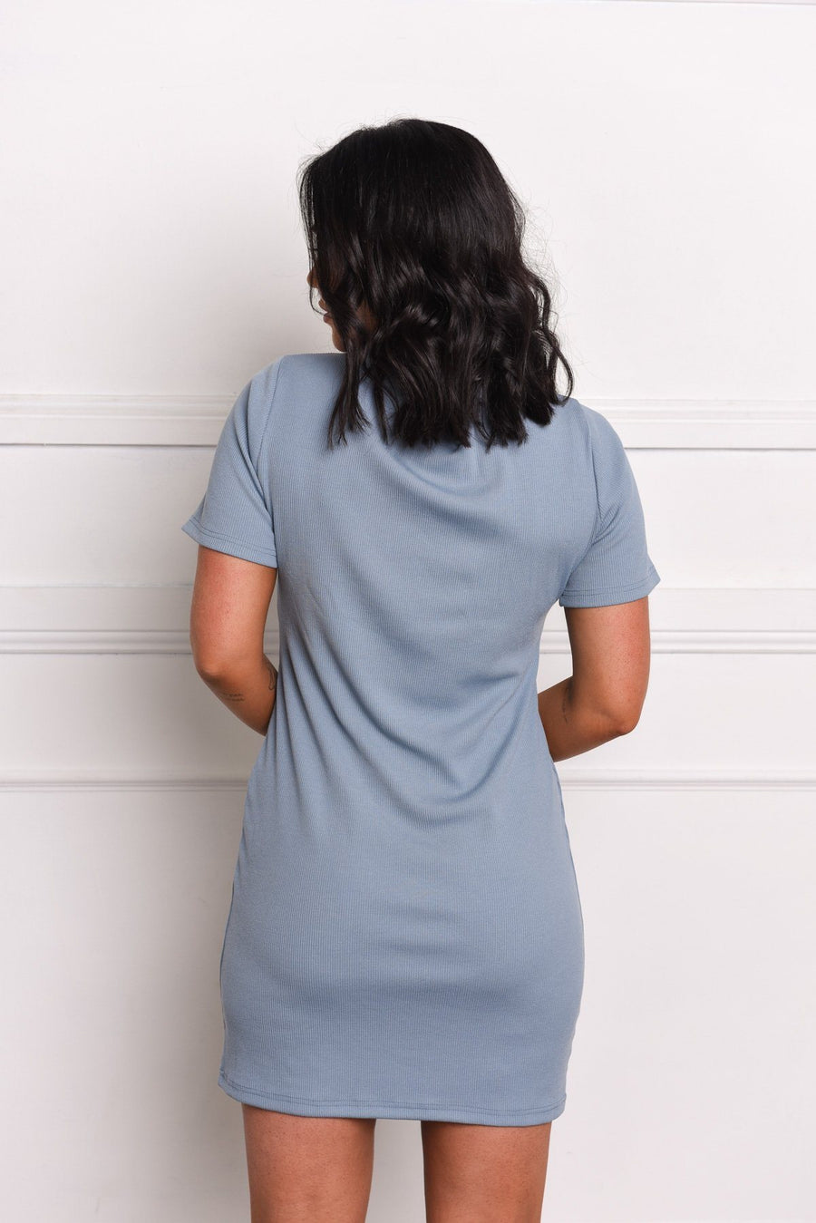 Gray x With Soph Taylah Ribbed Dress Dress Gray Label