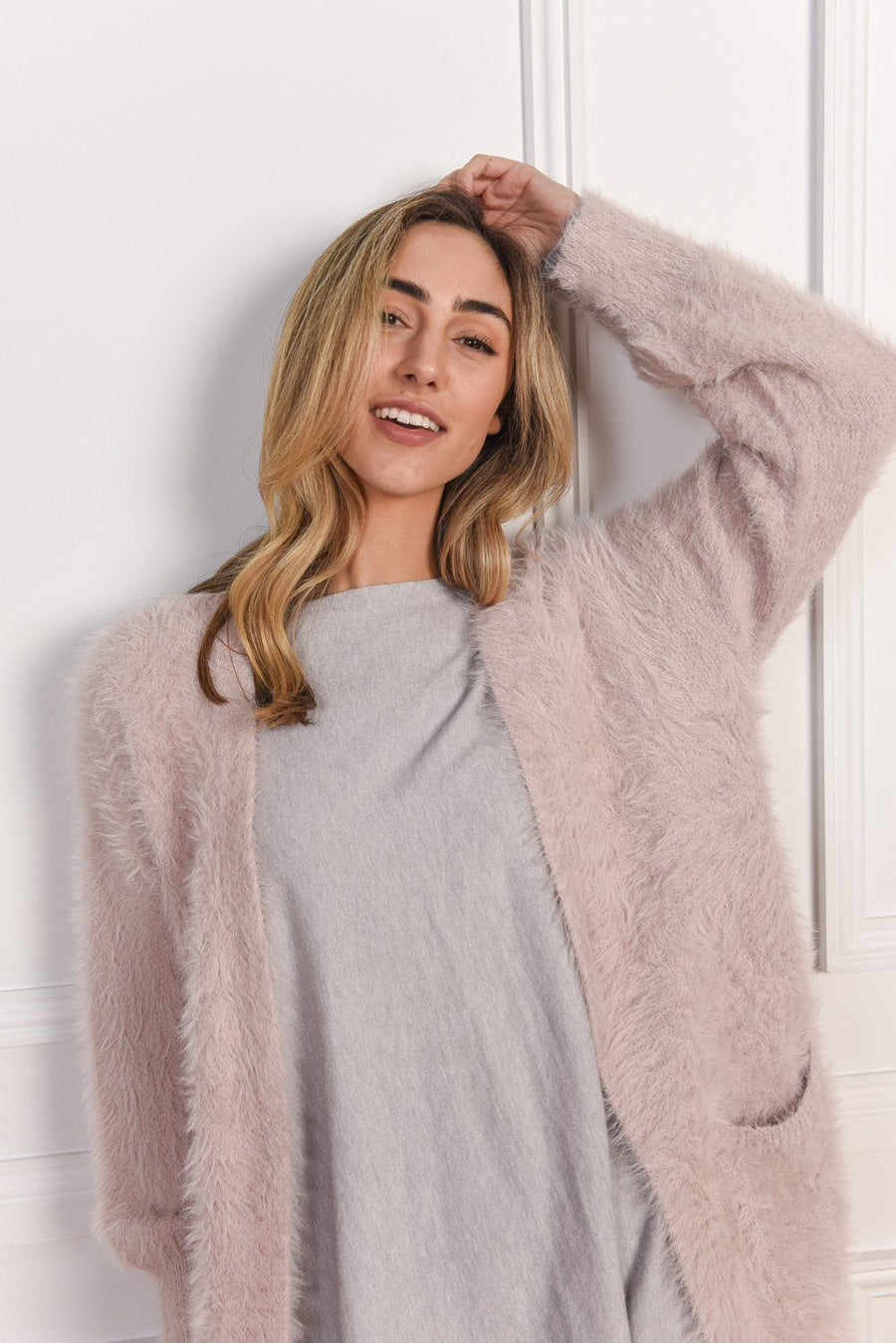 Grayson Cardigan | Blush Cardigan Gray Label