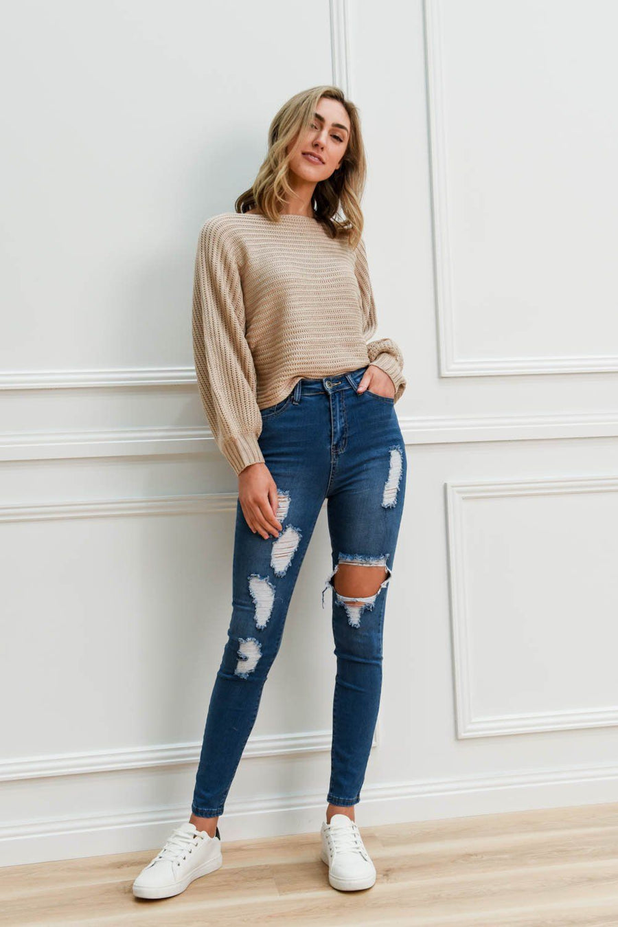 Hannah Ripped Jeans | Denim Jeans Gray Label