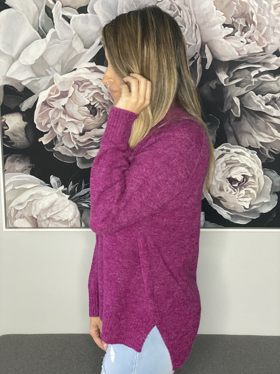 Heidi Sweater | Fuschia Knit Gray Label