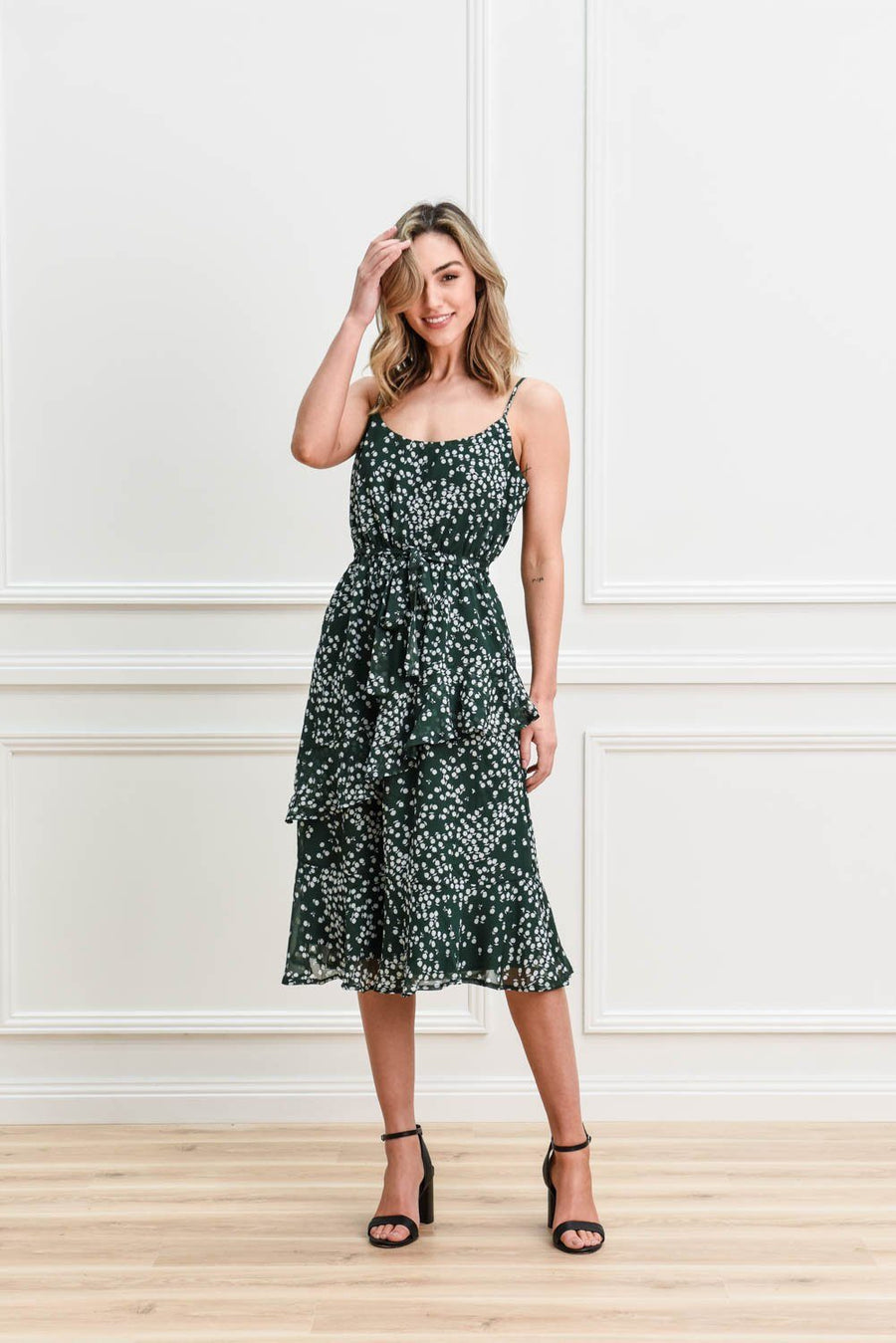 Holly Dress | Emerald Dress Gray.Label