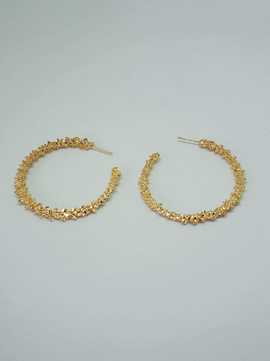 Hoops | Brittany Gold Earrings Gray.Label