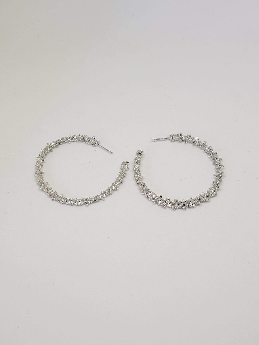 Hoops | Brittany Silver Earrings Gray.Label