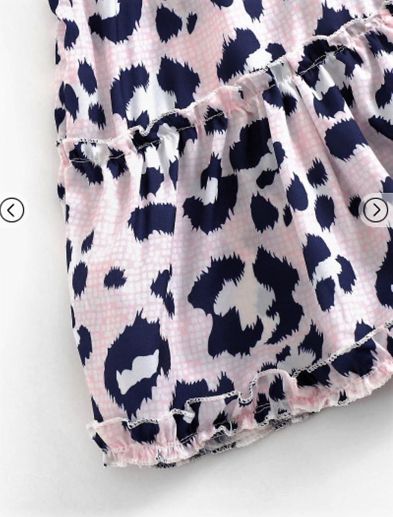 Indie Frill Pink Leopard Skirt Skirt Gray Label