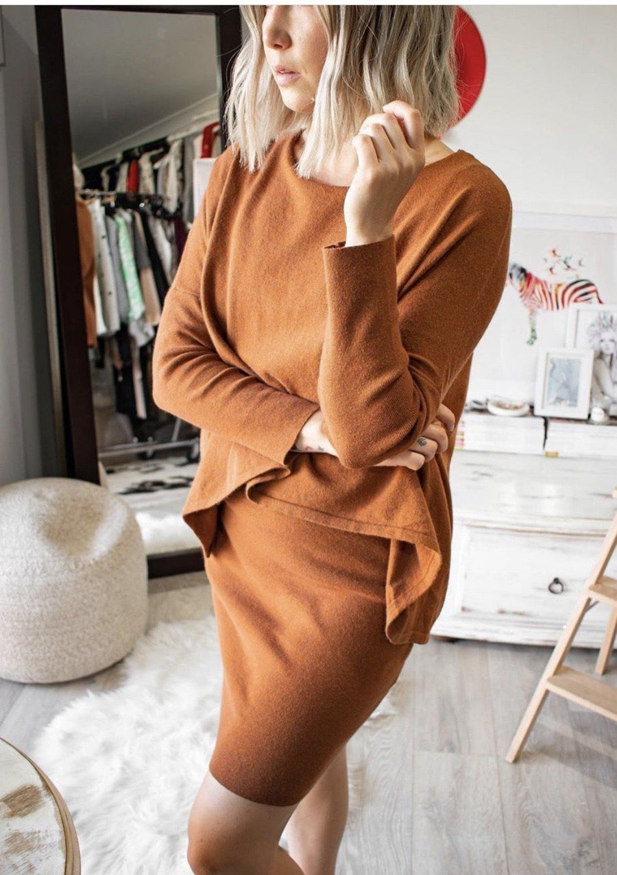 Jade Knit Dress | Tan - Gray Label Dress Gray Label
