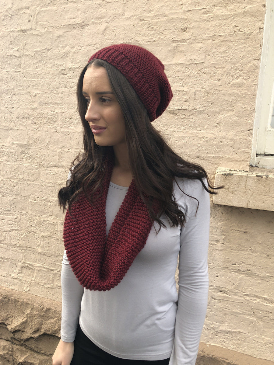 Jamie Knit Snood | Burgundy SNOOD Gray.Label