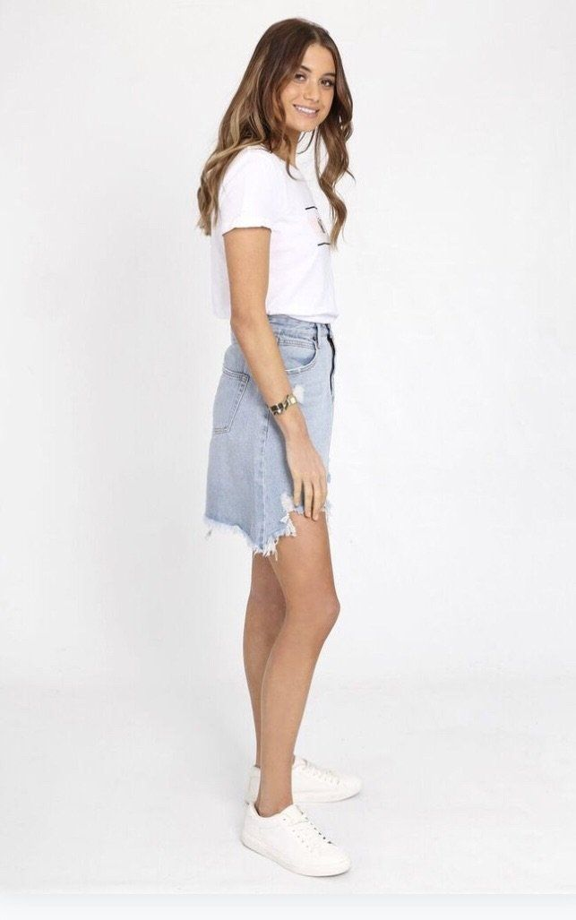 Jaymee Denim Skirt Skirt Gray Label