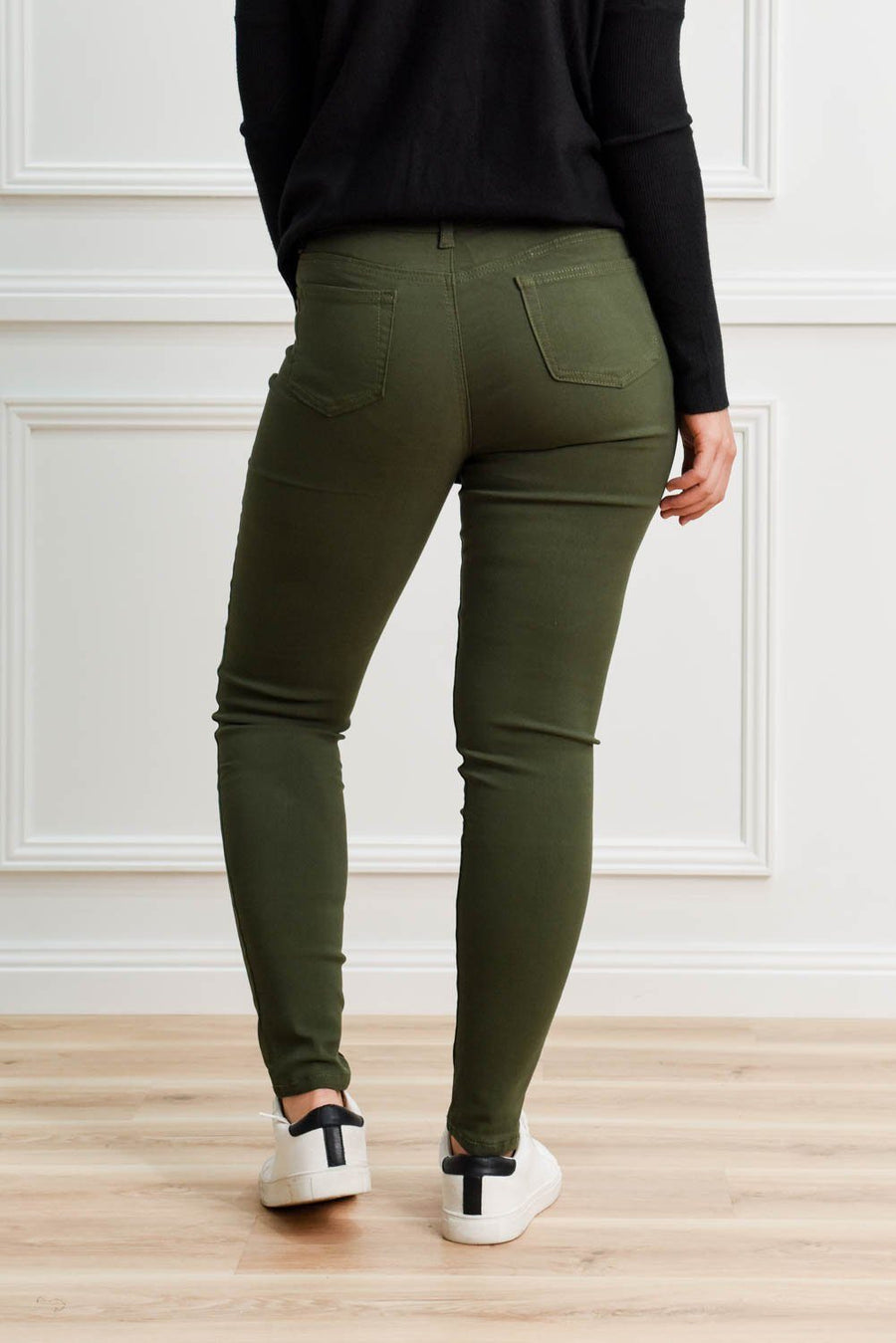 Kyla Stretch Jeans | Khaki Jeans Gray Label
