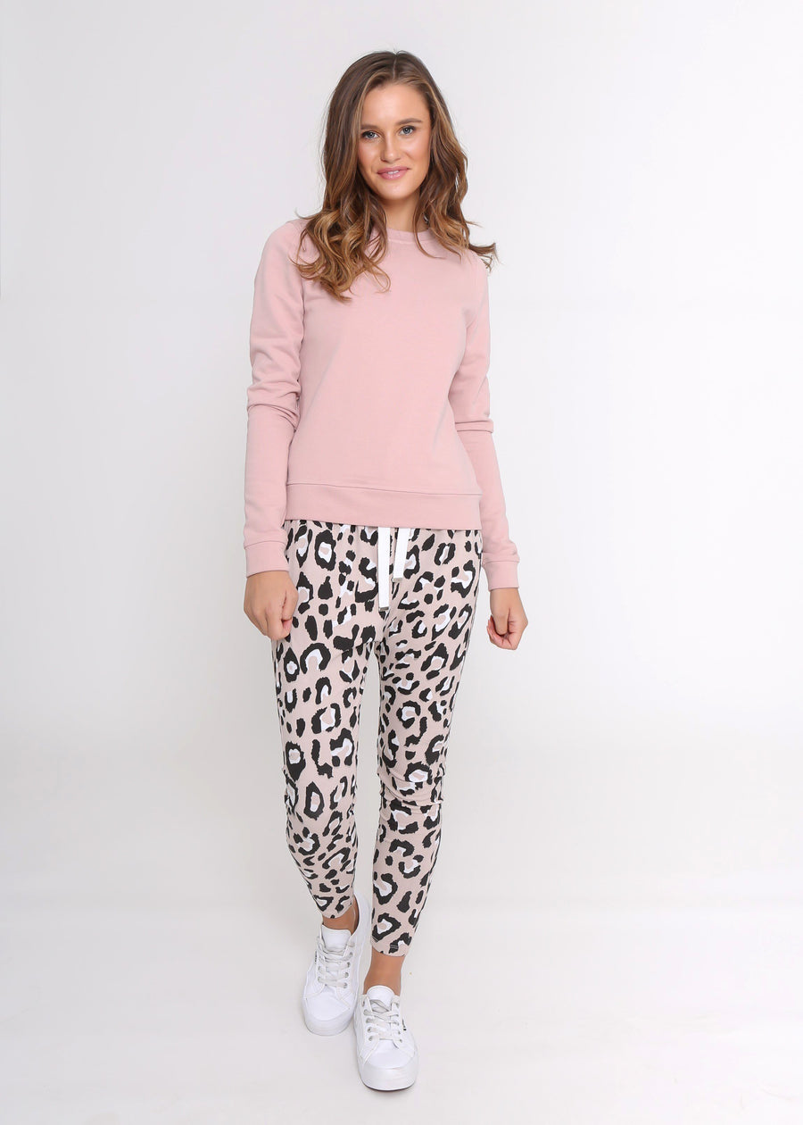 Kylie Jogger | Blush Leopard Joggers Gray Label