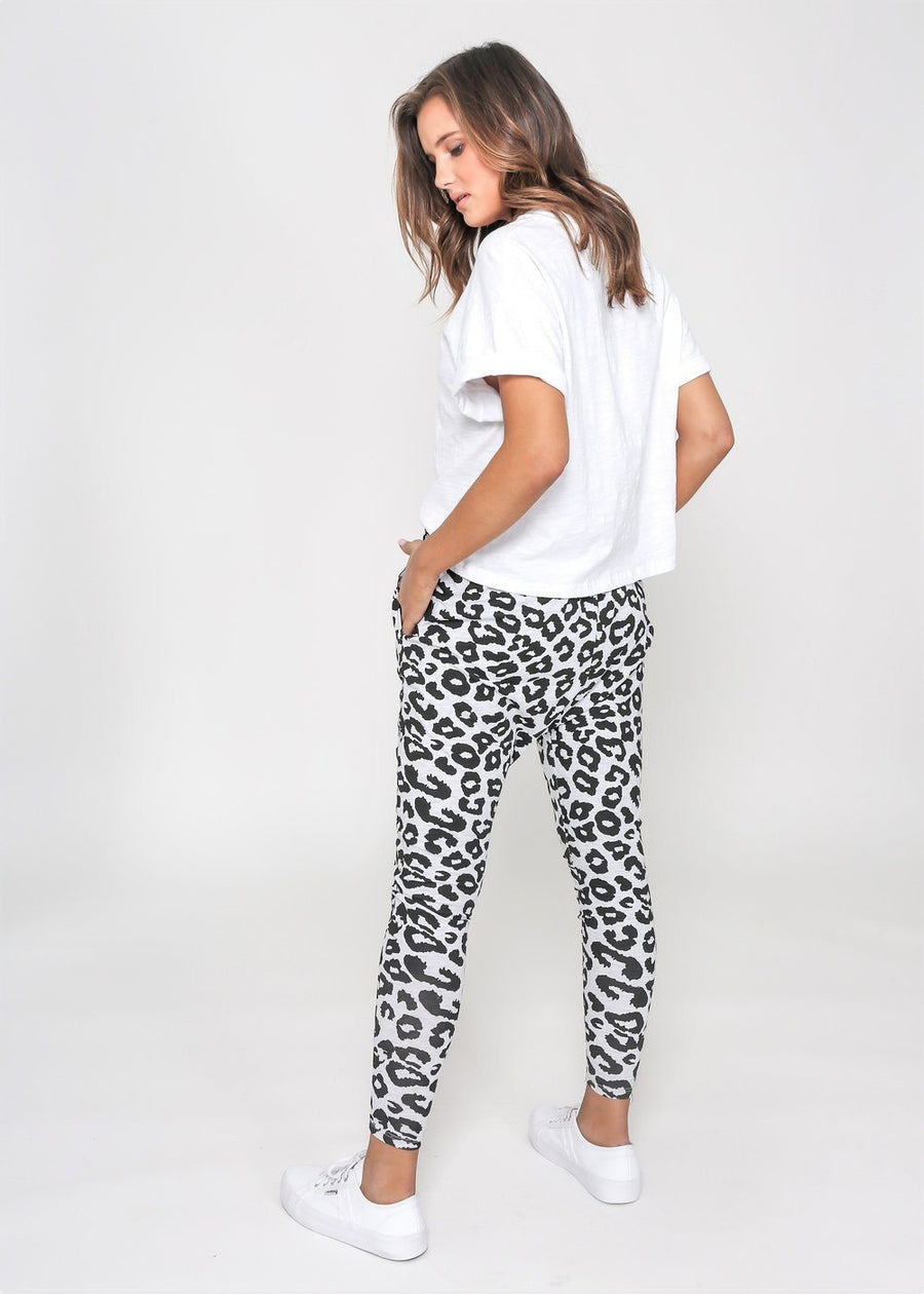 Kylie Jogger | Grey Leopard Joggers Gray Label