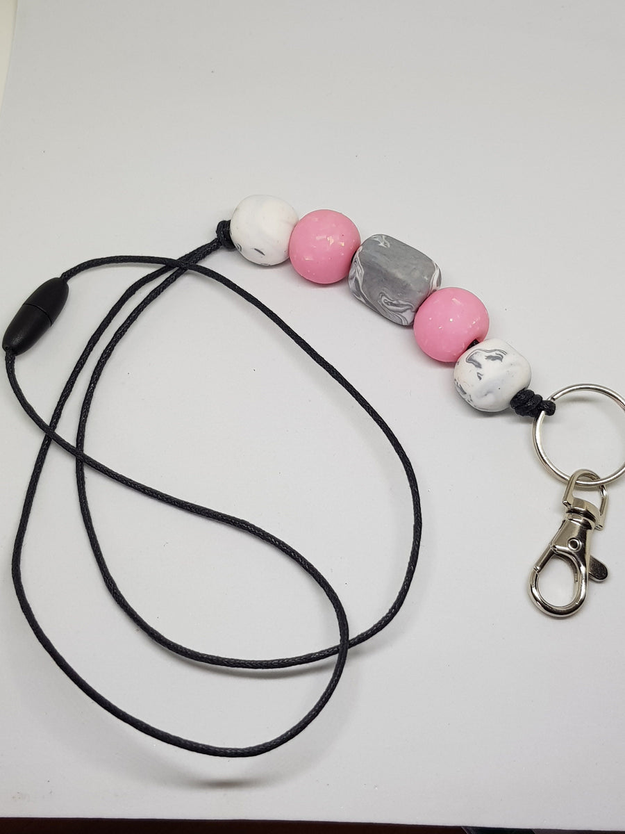 Lanyard | Pink Opal Necklace Green Avenue