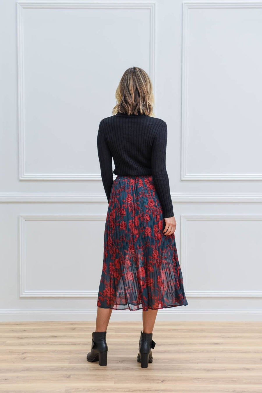 Lara Maxi Skirt | Emerald / Red Skirt Gray Label