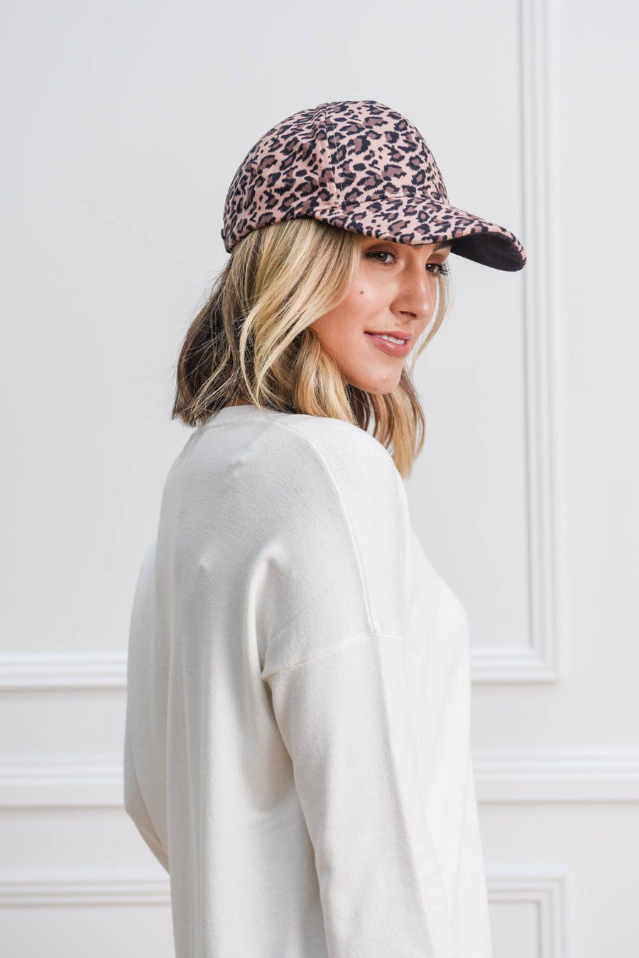 Leopard Cap | Tan Hat Gray Label