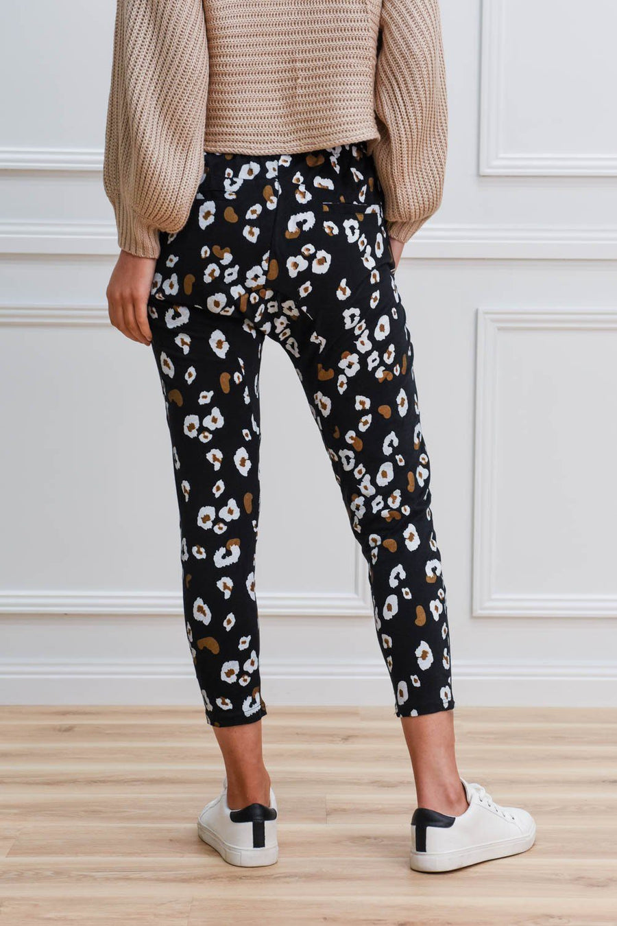 Lola Joggers | Dark Leopard Pants Gray Label