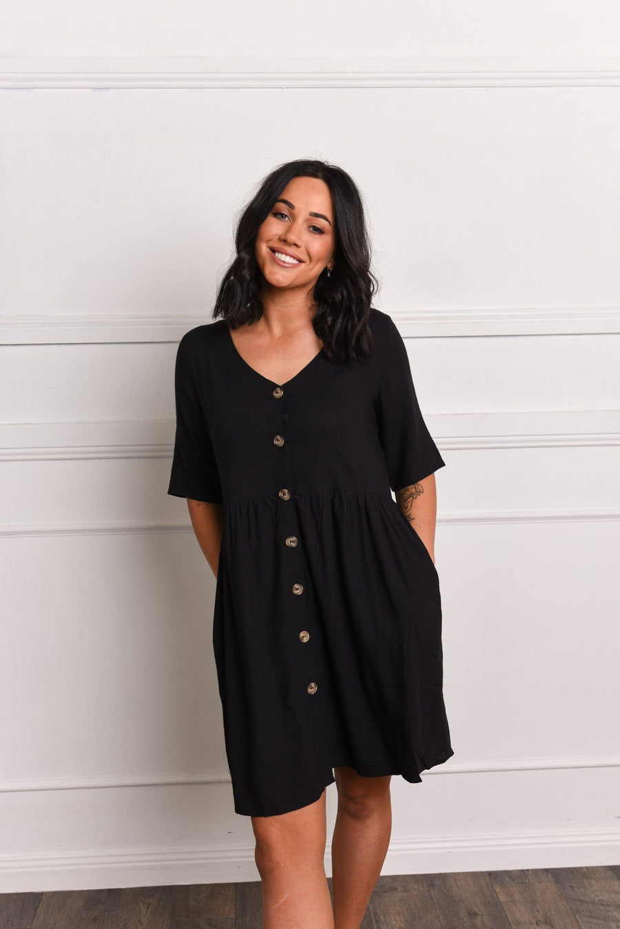 Lucy Tunic | Black Linen - Gray Label Dress Gray.Label