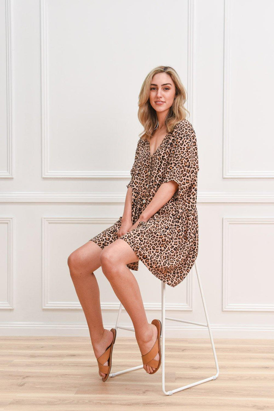 Lucy Tunic | Leopard Dress Gray.Label