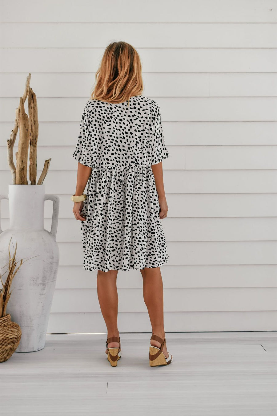 Lucy Tunic | Monochrome Leopard - Gray Label Dress Gray.Label