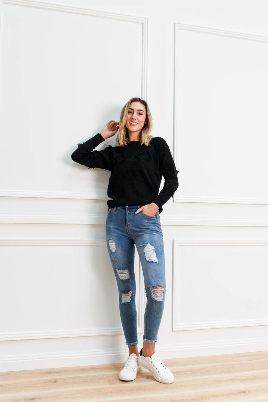 Max Ripped Jeans | Light Denim Jeans Gray Label